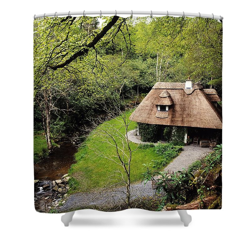 Communities Shower Curtain featuring the photograph Cottage Ornee Tearoom, Kilfane Glen, Co by The Irish Image Collection