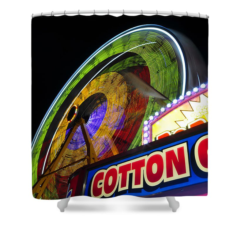 Fine Art Photography Shower Curtain featuring the photograph Cotton Candy Fun by David Lee Thompson