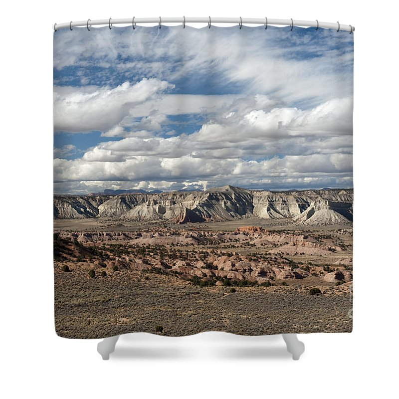 Southwest Shower Curtain featuring the photograph Cottonwood Canyon Badlands by Sandra Bronstein