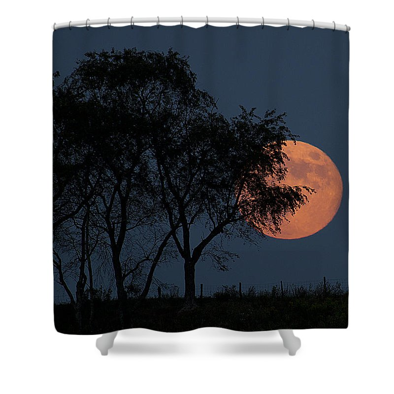Moon Shower Curtain featuring the photograph Country Moon by Betsy Knapp