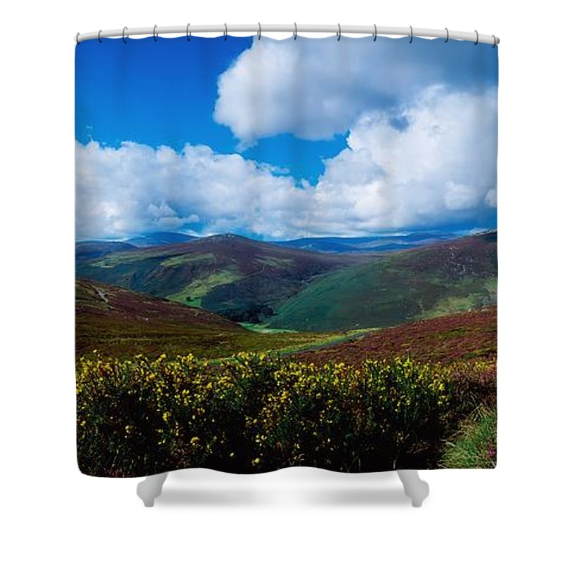 Co. Wicklow Shower Curtain featuring the photograph Country Road, Near Luggala Mountain, Co by The Irish Image Collection