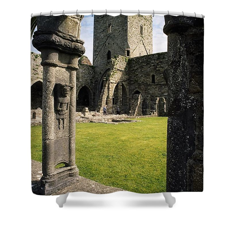 County Kilkenny Shower Curtain featuring the photograph County Kilkenny, Ireland Jerpoint Abbey by Sici