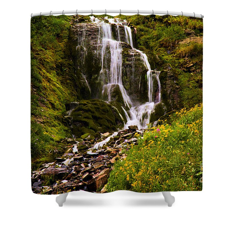 Vidae Falls Shower Curtain featuring the photograph Crater Lake Falls by Adam Jewell