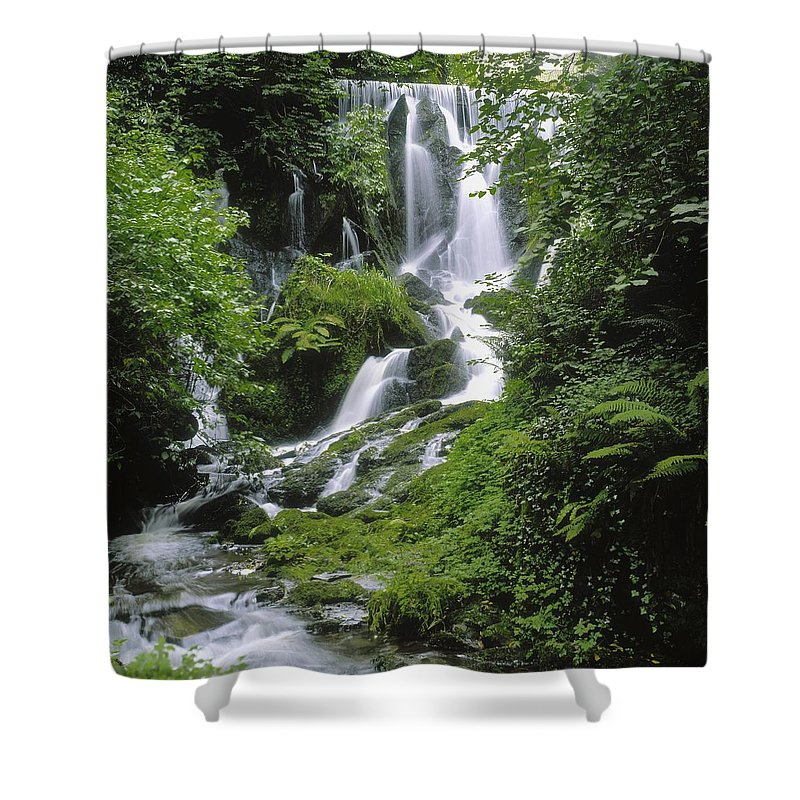 Blurred Motion Shower Curtain featuring the photograph Crawfordsburn Country Park, Co Down by The Irish Image Collection