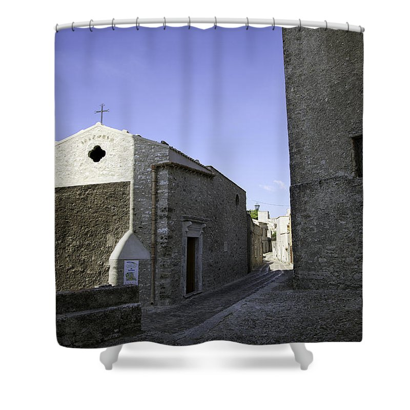 Church Shower Curtain featuring the photograph Cross Road 1 by Madeline Ellis