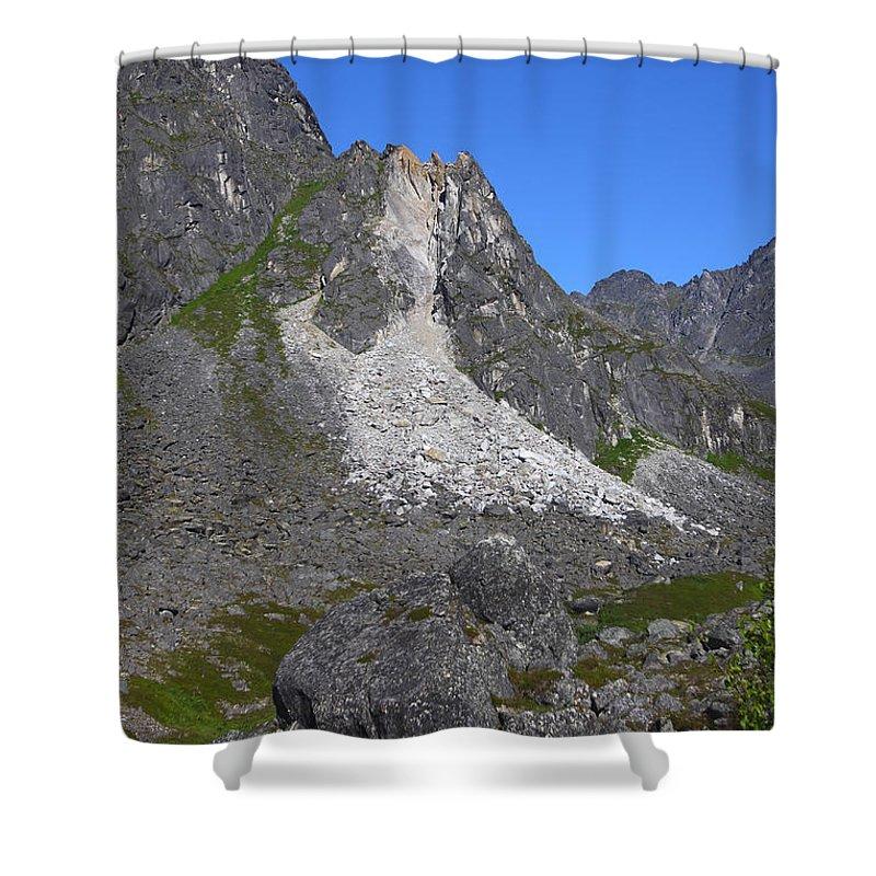 Doug Lloyd Shower Curtain featuring the photograph Crumble Mountain by Doug Lloyd