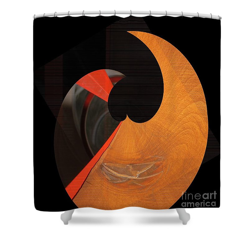 Abstract Shower Curtain featuring the photograph Curlicue 01 by Rrrose Pix