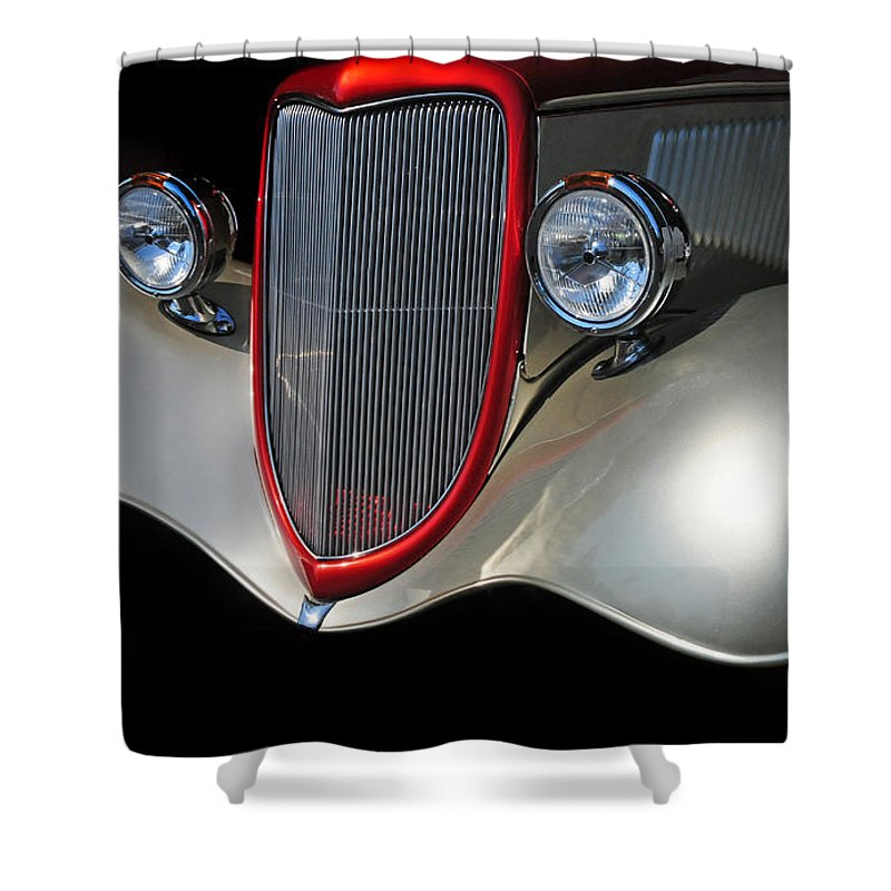 Custom Car Shower Curtain featuring the photograph Custom Car by Dave Mills