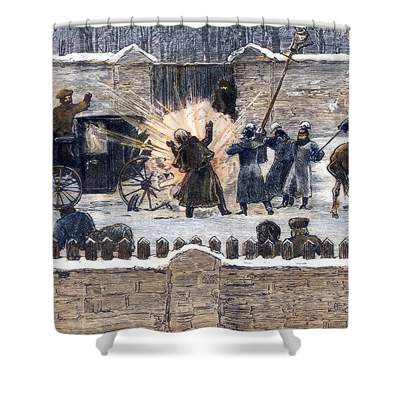 1881 Shower Curtain featuring the photograph Czars Assassination, 1881 by Granger