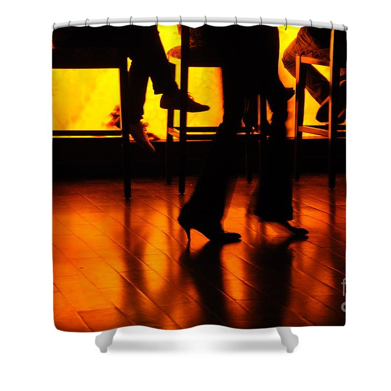 Silhouette Shower Curtain featuring the photograph Dance by Dattaram Gawade
