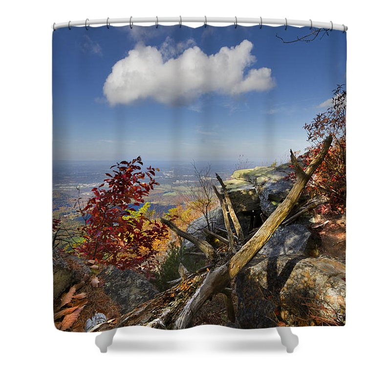 Appalachia Shower Curtain featuring the photograph Dancing Cloud by Debra and Dave Vanderlaan