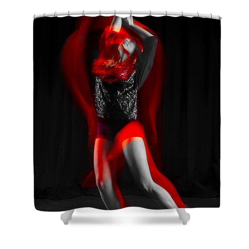 Photography Shower Curtain featuring the photograph Dancing With Fire by Frederic A Reinecke