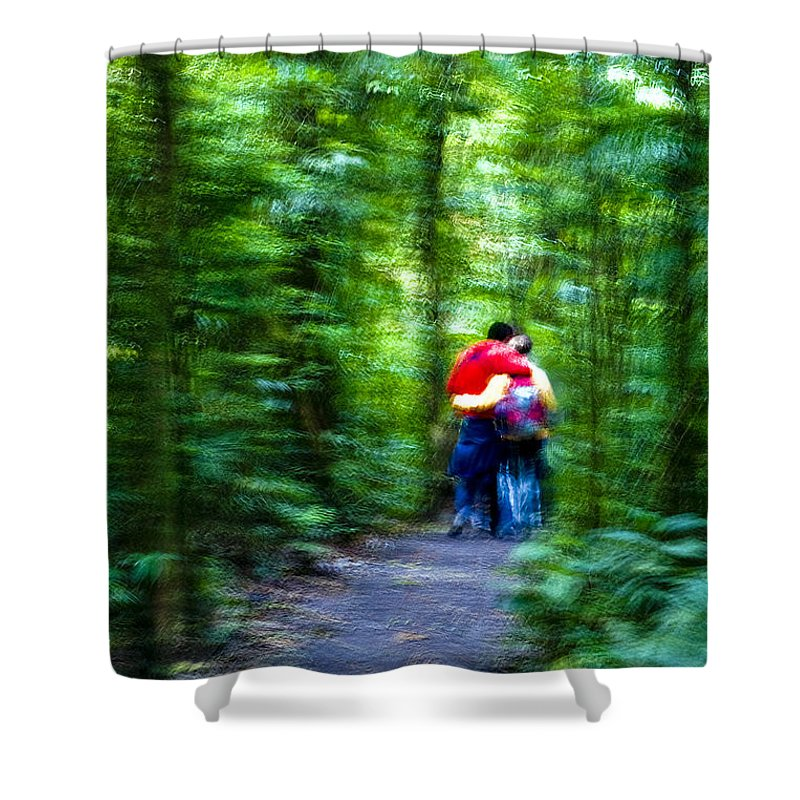 Couple Shower Curtain featuring the photograph Dappled Days Of Summer by Madeline Ellis