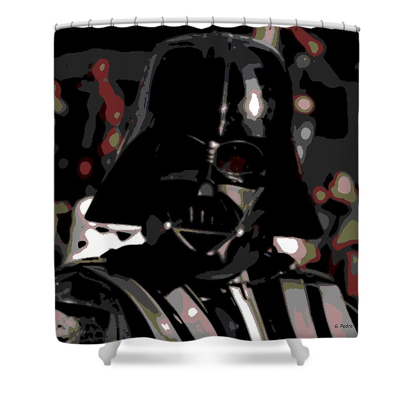 Darth Vader Shower Curtain featuring the photograph Darth Vader by George Pedro