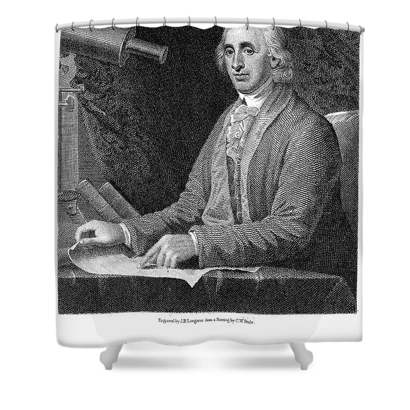 18th Century Shower Curtain featuring the photograph David Rittenhouse by Granger