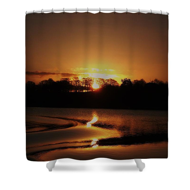 Landscape Shower Curtain featuring the photograph Dawn by Michelle O'Neill