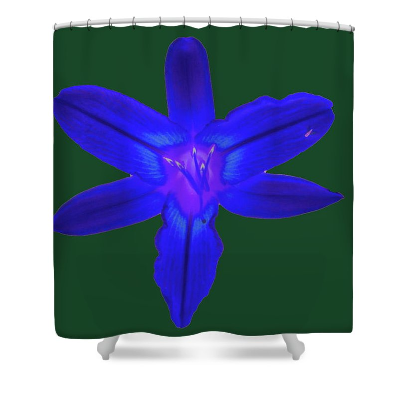 Digital Shower Curtain featuring the photograph Day Lily Abstract by Richard Bryce and Family