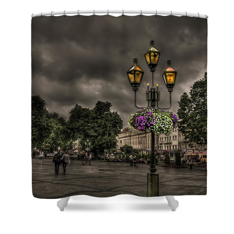 City Shower Curtain featuring the photograph Days Of Thunder by Evelina Kremsdorf