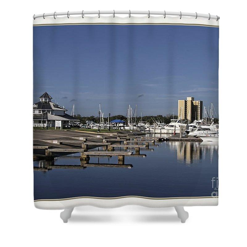 Boat Launch Shower Curtain featuring the photograph Daytona Boat Launch by Deborah Benoit
