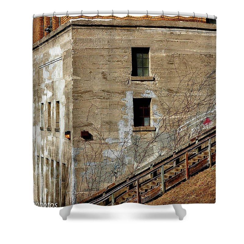 Rcnaturephotos Shower Curtain featuring the photograph Declining Dam by Rachel Cohen