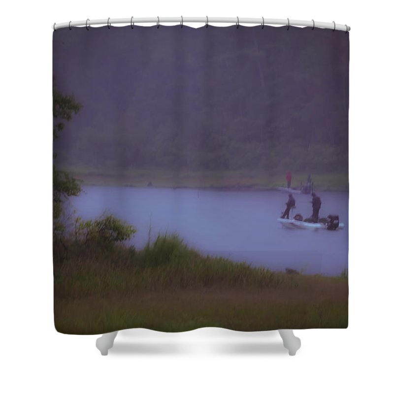 Fishing Shower Curtain featuring the photograph Dedication by Kim Henderson