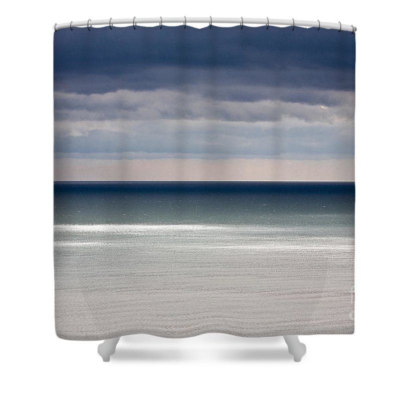 Water Shower Curtain featuring the photograph Deep Horizon by Heiko Koehrer-Wagner