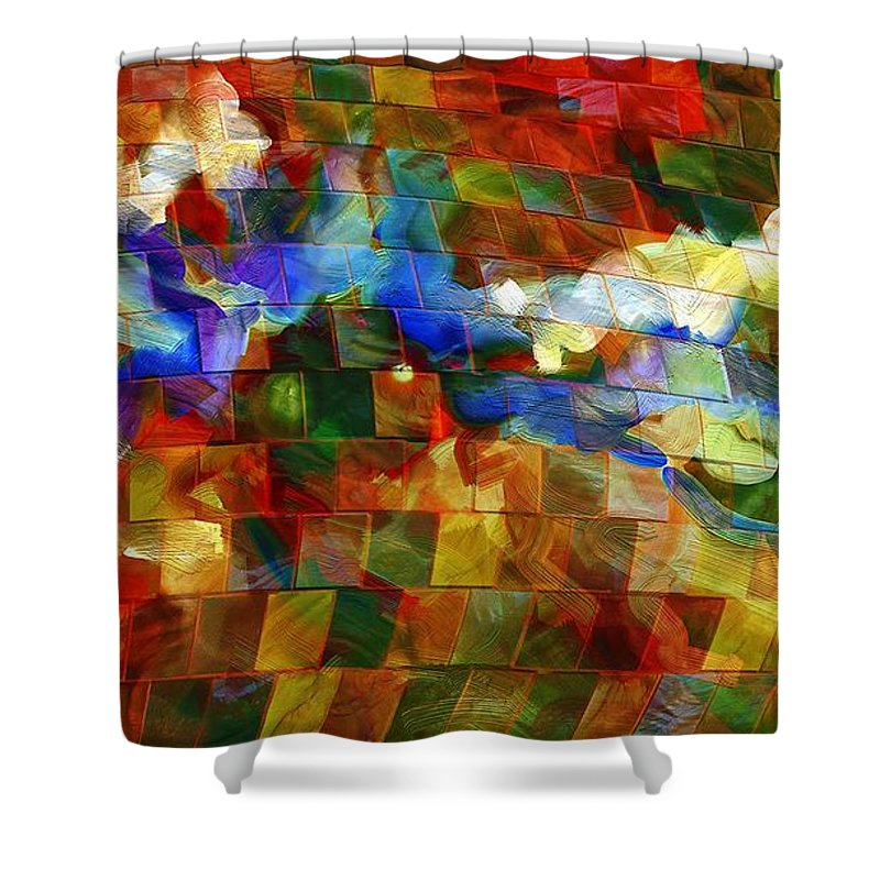 Music Shower Curtain featuring the digital art Dei Miei Bollenti Spiriti by Georgiana Romanovna