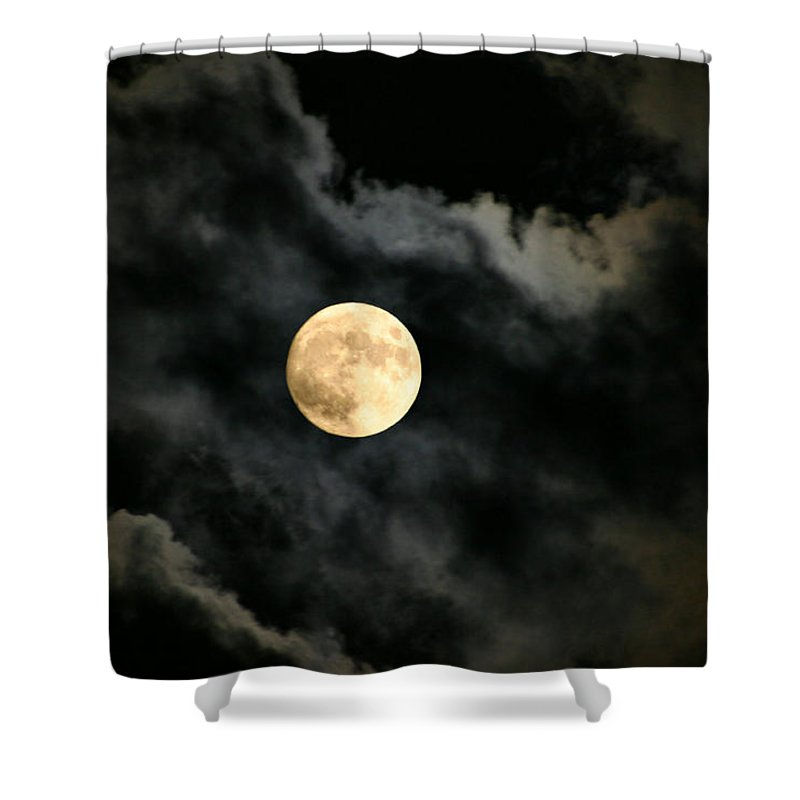 Moon Shower Curtain featuring the photograph Delicate Balance by Kristin Elmquist