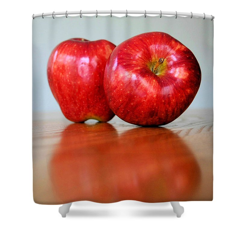 Apple Shower Curtain featuring the photograph Delicious by Kristin Elmquist