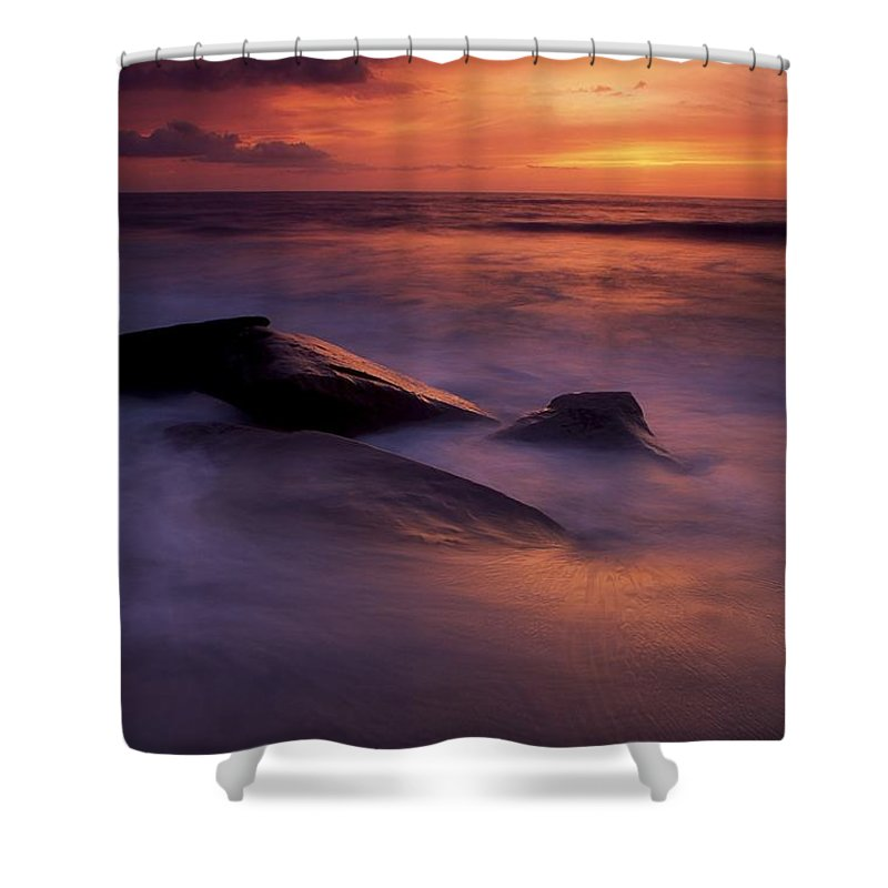 Attraction Shower Curtain featuring the photograph Derrynane Bay, County Kerry, Ireland by Richard Cummins