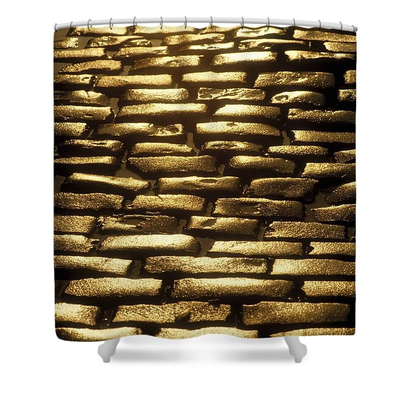 Architectural Detail Shower Curtain featuring the photograph Detail Of Cobblestones, Dublin, Ireland by The Irish Image Collection