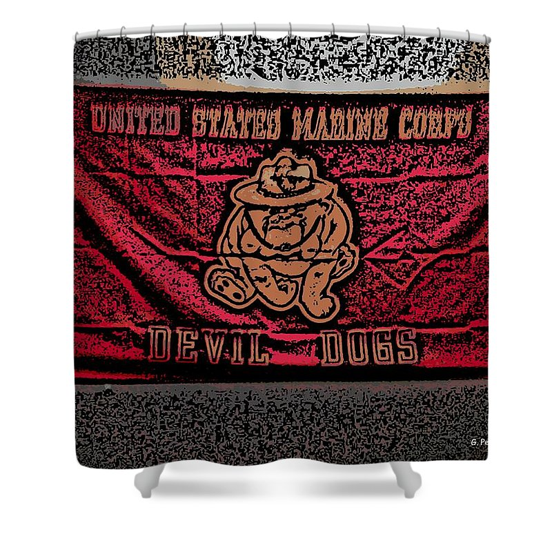 Flag Shower Curtain featuring the photograph Devil Dogs by George Pedro