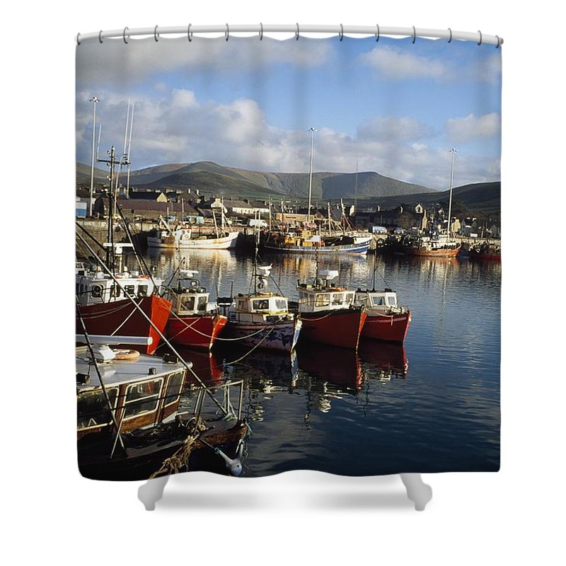 Outdoors Shower Curtain featuring the photograph Dingle, Co Kerry, Ireland Boats In A by The Irish Image Collection