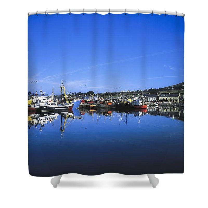 Boat Shower Curtain featuring the photograph Dingle Harbour, Dingle, Co Kerry by The Irish Image Collection