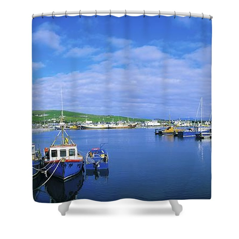 Atlantic Ocean Shower Curtain featuring the photograph Dingle Town & Harbour, Co Kerry, Ireland by The Irish Image Collection
