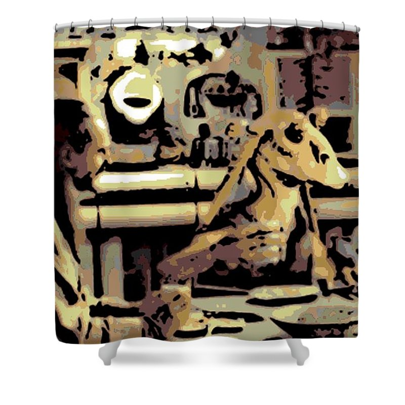 Jar Jar Binks Shower Curtain featuring the photograph Dinner Time by George Pedro