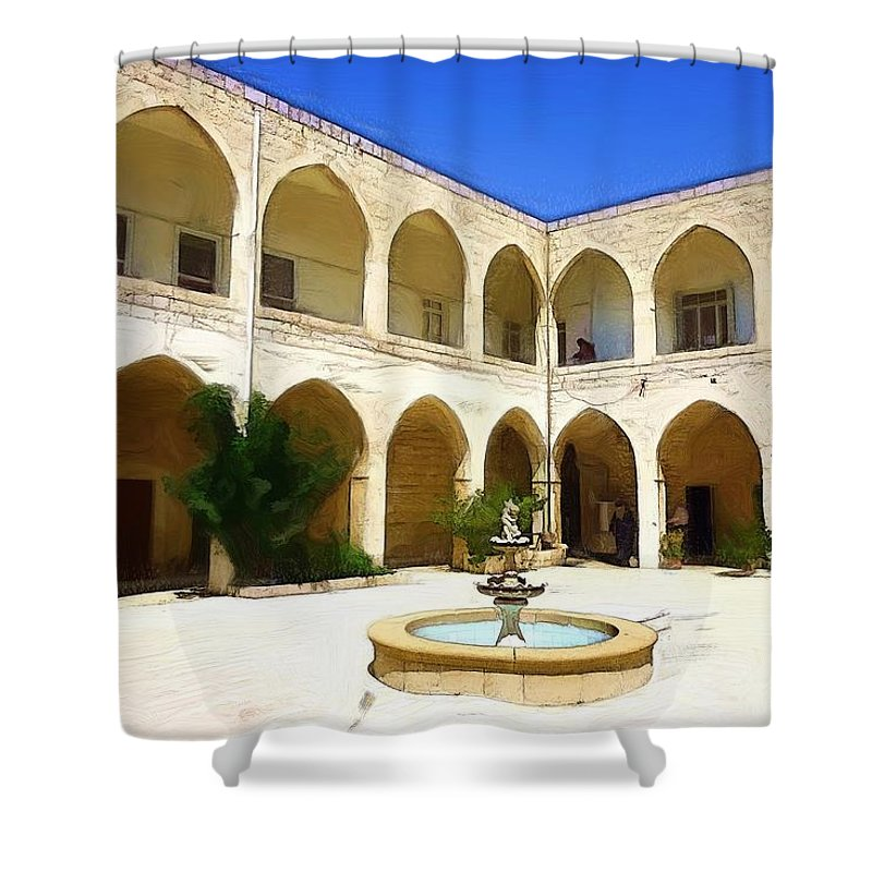 Church Shower Curtain featuring the photograph Do-00494 Inside Court Saidet El-nourieh by Digital Oil