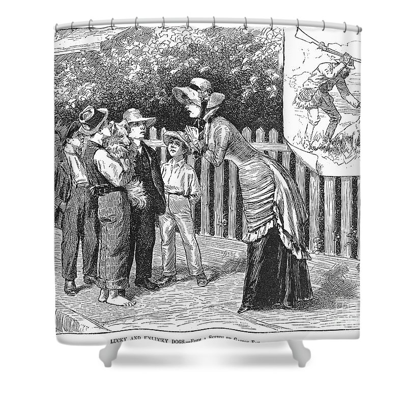 19th Century Shower Curtain featuring the photograph Dogs, 19th Century by Granger