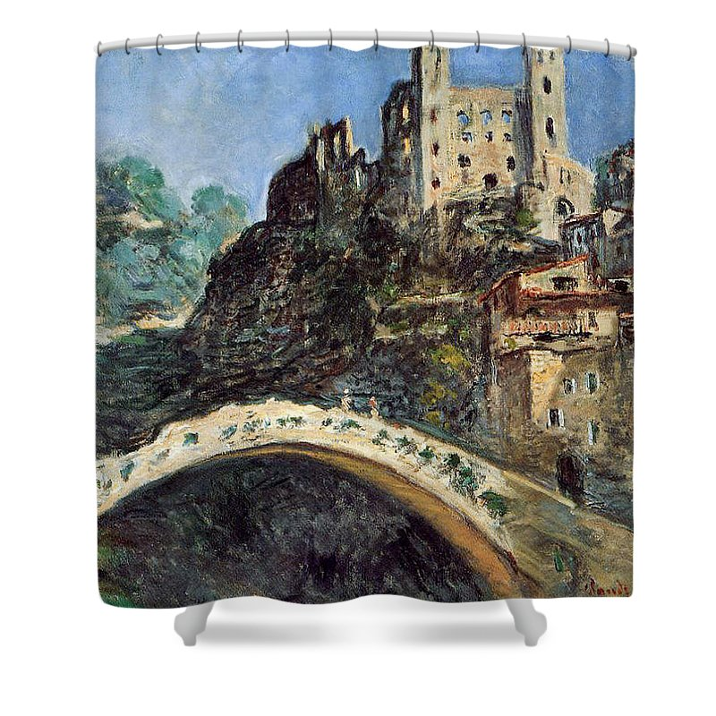 Dolceacqua Shower Curtain featuring the painting Dolceacqua by Claude Monet