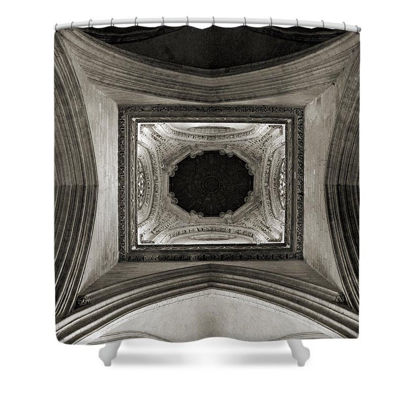 Dome Shower Curtain featuring the photograph Dome In Saint Jean Church - Caen by RicardMN Photography