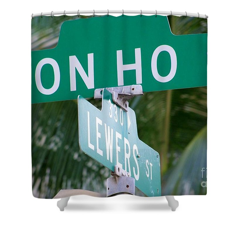 Don Ho Shower Curtain featuring the photograph Don Ho Street by Mary Deal