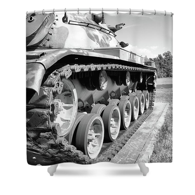 Guy Whiteley Photography Shower Curtain featuring the photograph Don't Tread On Me by Guy Whiteley