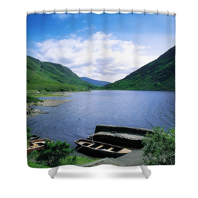 Beauty In Nature Shower Curtain featuring the photograph Doo Lough, Delphi, Co Mayo, Ireland by The Irish Image Collection