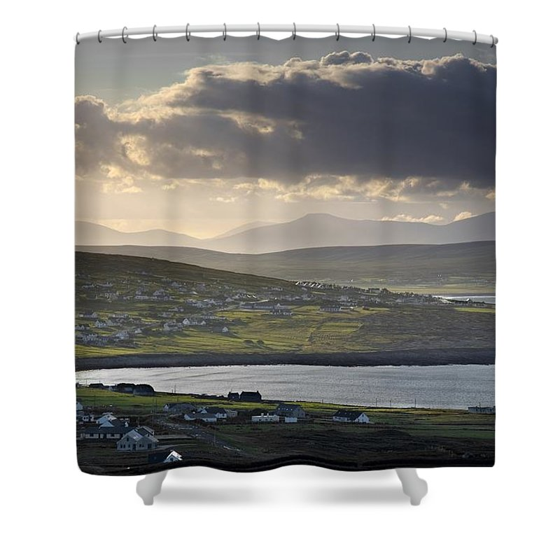 Outdoors Shower Curtain featuring the photograph Dooagh, Achill Island, Co Mayo, Ireland by Gareth McCormack