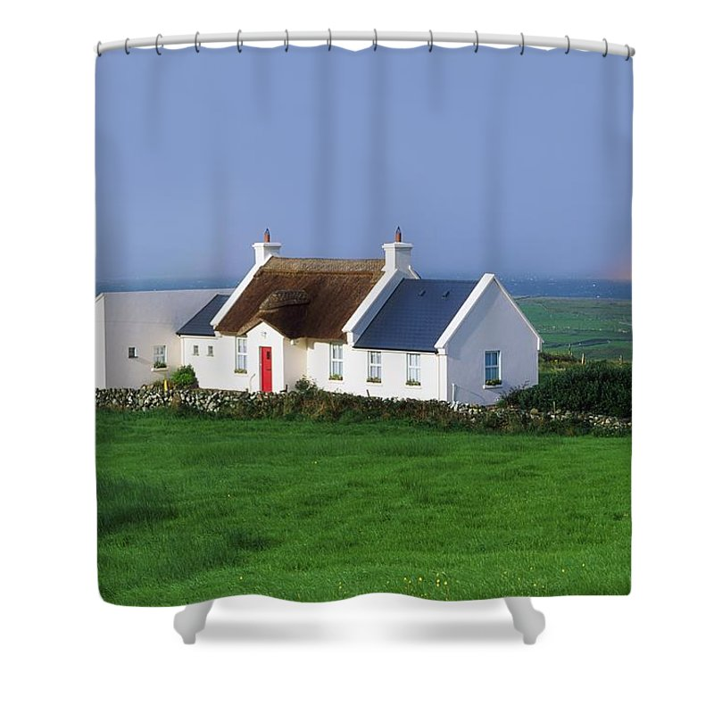 Beauty In Nature Shower Curtain featuring the photograph Doolin, Co Clare, Ireland Renovated by The Irish Image Collection