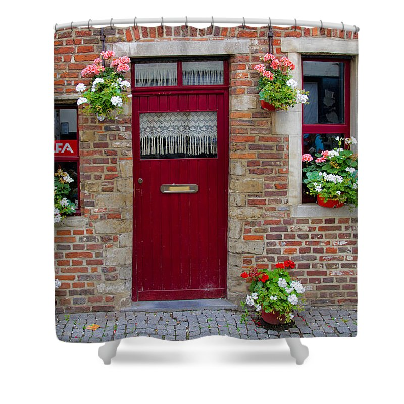 Europe Shower Curtain featuring the photograph Door And Windows by David Freuthal