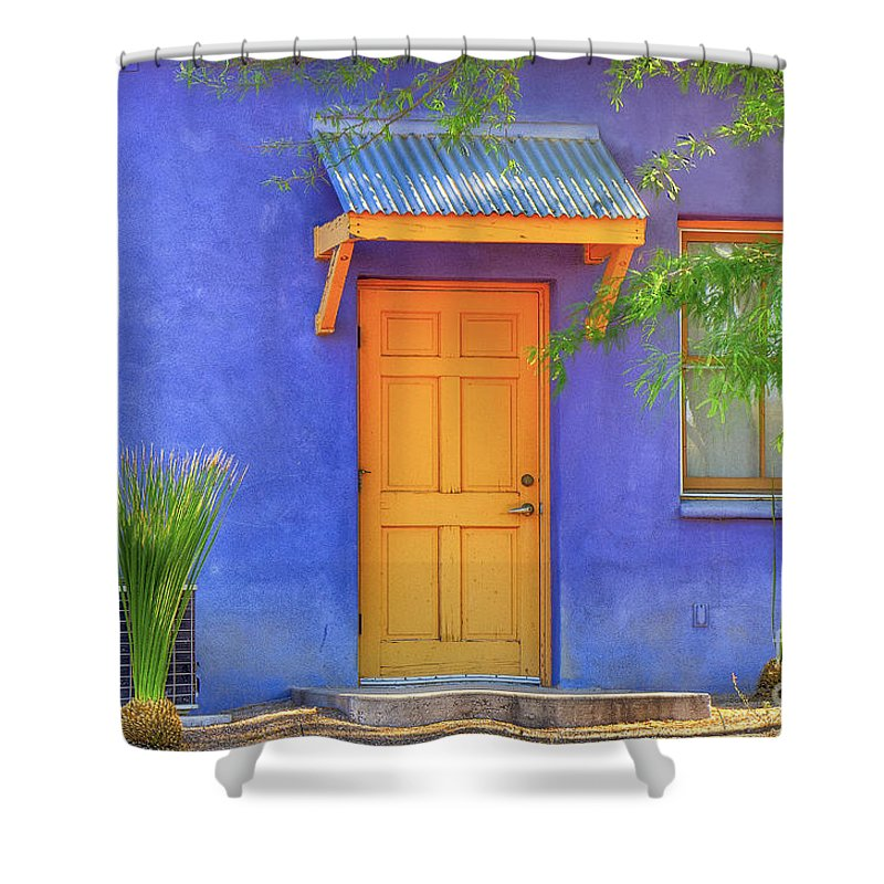 Barrio Shower Curtain featuring the photograph Doorway 4 by Larry White