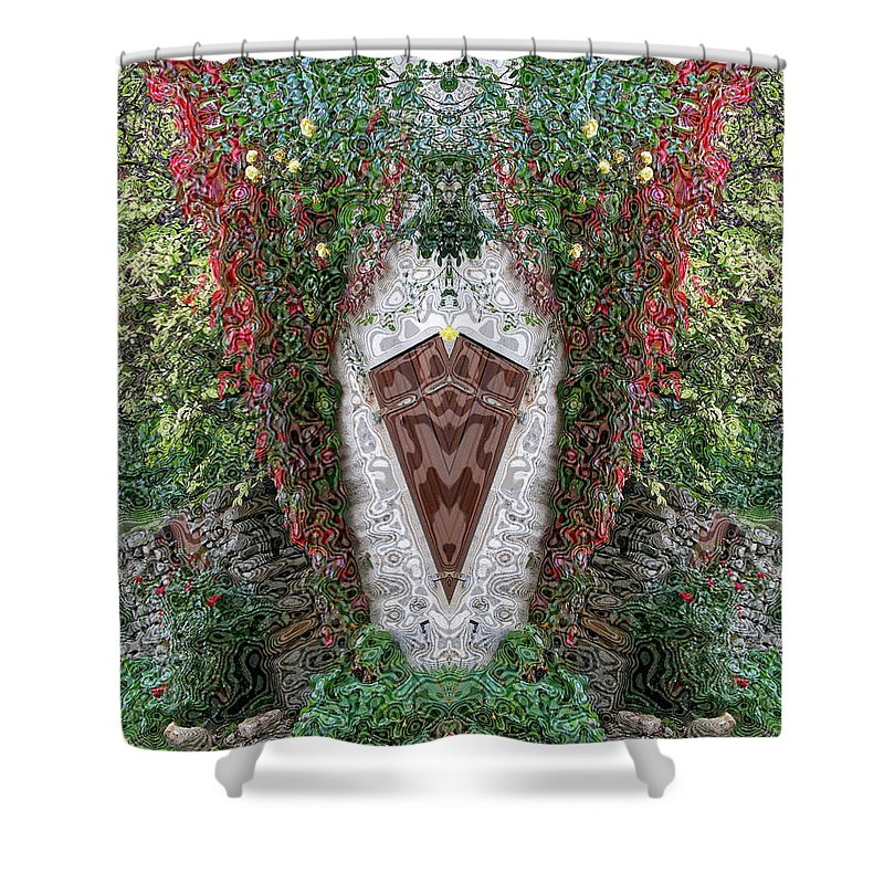 Doorway Shower Curtain featuring the photograph Doorway To Faeryland by Diana Haronis