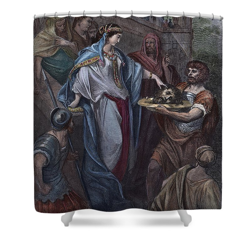 19th Century Shower Curtain featuring the photograph Dor�: Daughter Of Herod by Granger