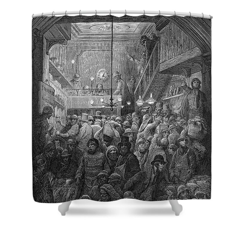 1872 Shower Curtain featuring the photograph Dore: Billingsgate, 1872 by Granger